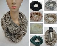 Knitted Infinity Scarf [Metallic & Sequin Accent]